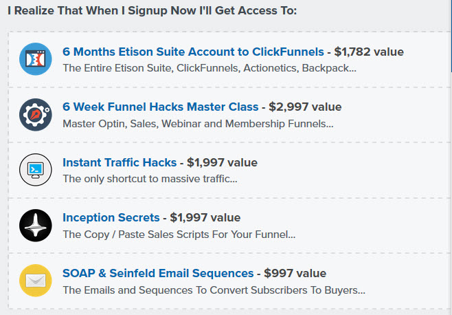 FUNNEL HACKING MASTER CLASS & 6-MONTH CLICKFUNNELS FREE